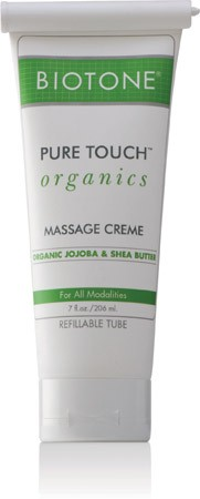 Biotone Pure Touch Organic Massage Cream 7 oz.